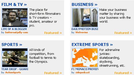 Dailymotion homepage screenshot