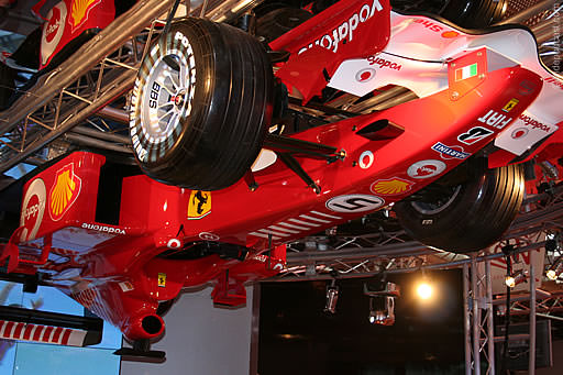Upside Down Ferrari at Autosport International 2007