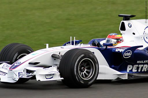 Timo Glock testing at Silverstone in 2007