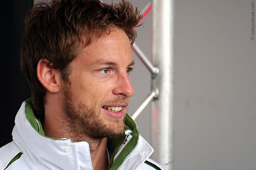 Jenson Button at the Festival of Speed on Sunday