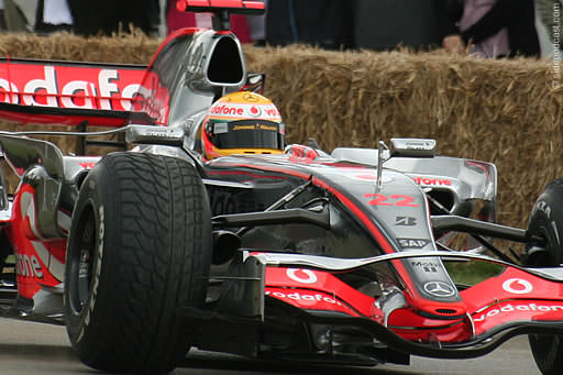 Lewis Hamilton at the Festival of Speed on Sunday