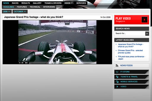 Screenshot from f1.com