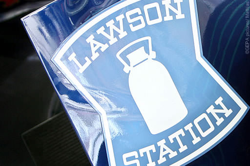 Lawson Station branding on a Toro Rosso rear end plate