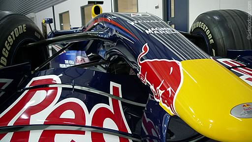 A close up of DC's motor in the Red Bull factory