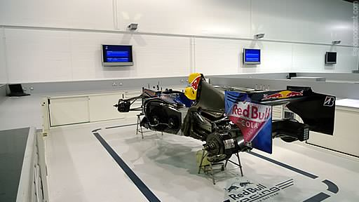 A show car being prepared in the Red Bull factory