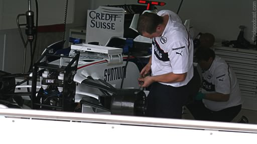 BMW pits at Silverstone