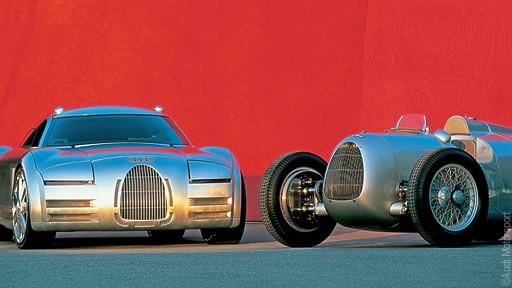 2000 Audi Rosemeyer Concept & Auto Union Silver Arrow