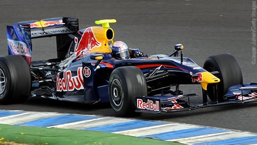 Red Bull RB5 on track