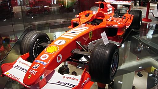 Ferrari on display