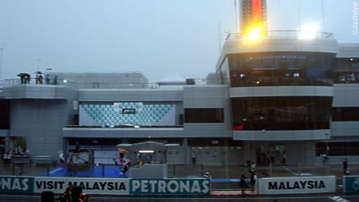 Failing light at Sepang
