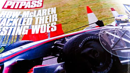 McLaren testing at Kemble on page 22 of F1 Racing
