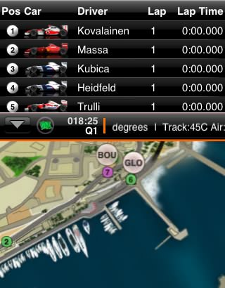 F1 iPhone Monaco map