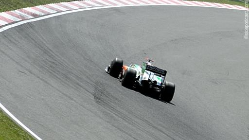 Force India at Copse