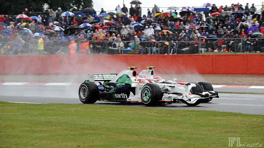 Barrichello finishes 3rd in 2008 British Grand Prix