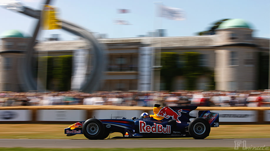 David Coulthard drives the Goodwood Hill Climb