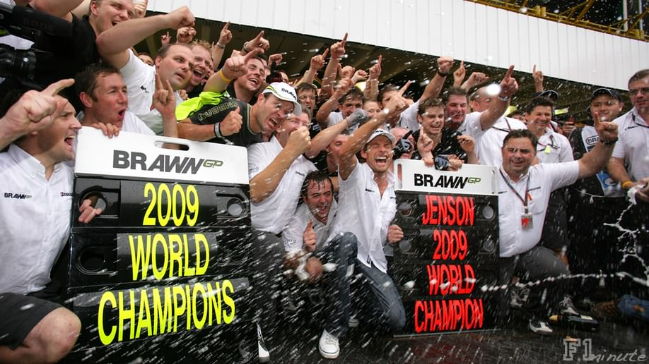 Brawn GP celebrate their double championship success