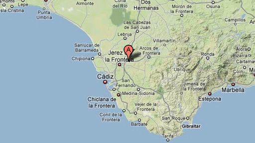 Jerez location map