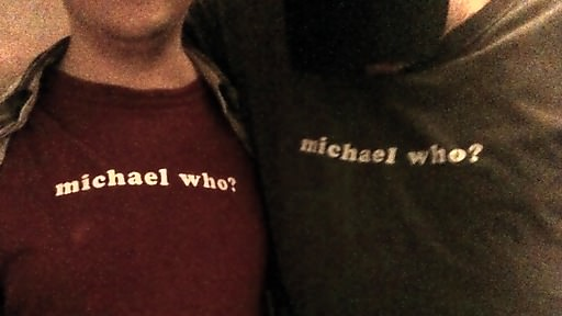 Pat W and Mr.C sporting Sidepodcast tees.