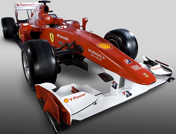 The new Ferrari F10 chassis that the Italian team hope will bring them success in 2010.