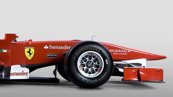 The new front end of the Ferrari F10 takes its design cues from last years Red Bull RB5.