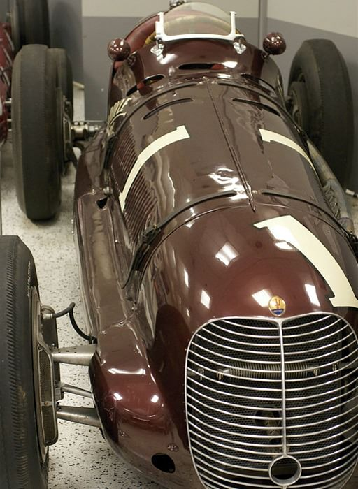 A Maserati at the Hall of Fame Museum