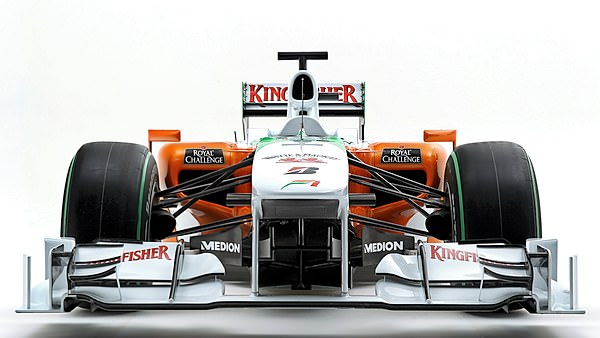 Staring down the nose of the VJM03.  It would appear a lot of work has gone into the front wing detailing.