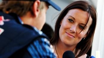 Lee Mckenzie interviews Sebastian Vettel following qualifying for the Japanese Grand Prix in 2009.