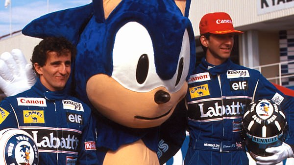 Alain Prost and Damon Hill, pose with a sponsor at Kyalami, '93. The FIA is putting it's trust in these men.