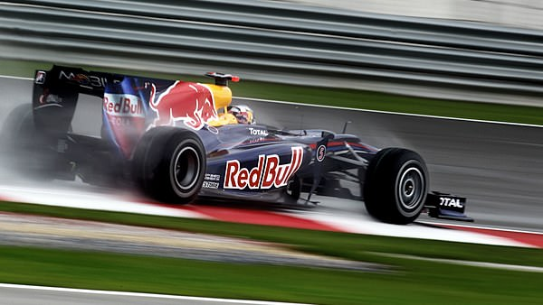 Vettel opts for full wets during qualifying in Malaysia.