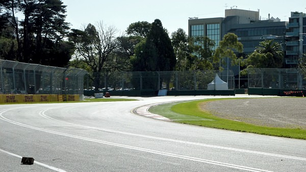The Melbourne street circuit's undulating asphalt offers drivers a rough ride.