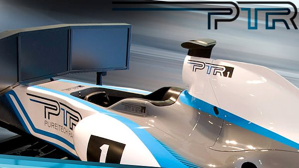 A full motion racing simulator offering racing action at over 1.5G.