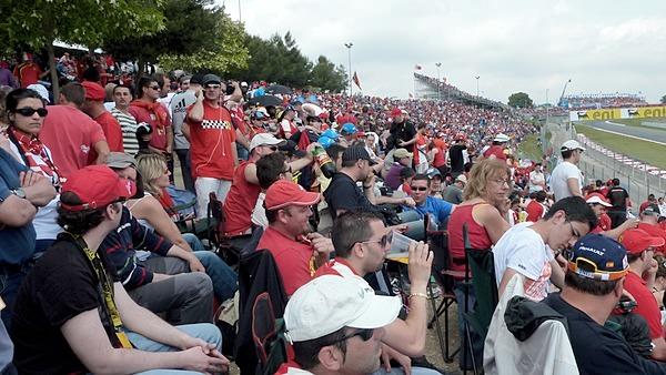 The fans are out in force for the Spanish Grand Prix