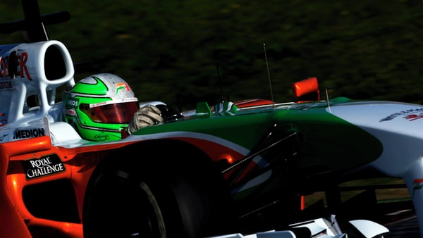 Tonio Liuzzi pilots the VJM03 round Barcelona