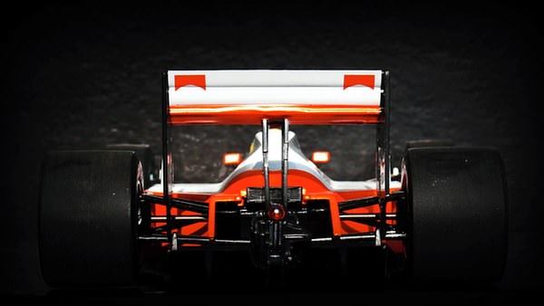 The rear of the MP4/4