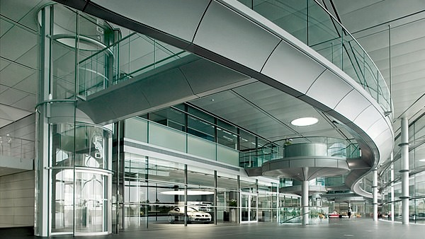 The gleaming McLaren Technology Centre played host to the launch of the new MP4-25