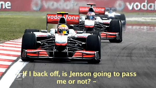 Lewis Hamilton questions team tactics over the radio during the Turkish Grand Prix 2010.
