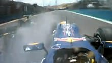 Webber and Kovi crash
