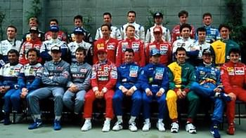 The Class of '94. Roland Ratzenberger stands on the back row beside David Brabham.