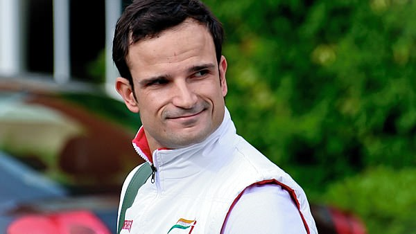 Liuzzi heads off for a day of F1 practice.