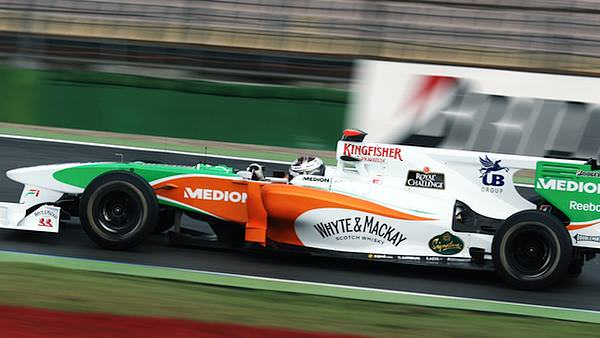 Sutil was forced out of practice this morning with a broken driveshaft