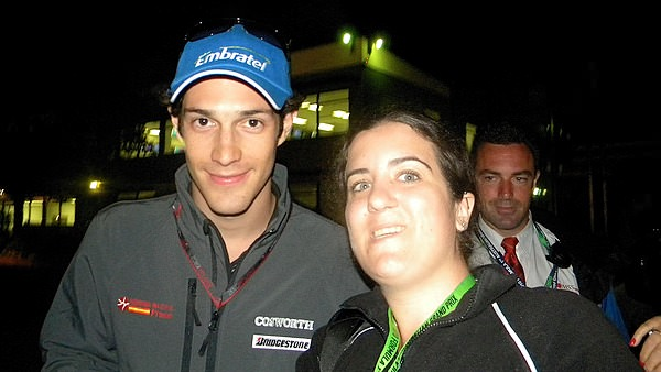 Amy catches Bruno Senna for a photo opportunity post-qualifying