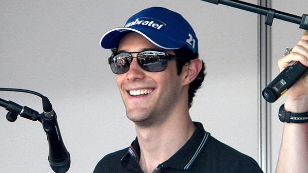 Bruno Senna laughs at the thought of a question about Sidepodcast