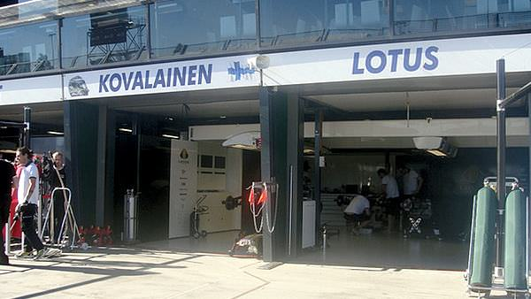 The most important garage in the pitlane - Heikki Kovalainen and Lotus