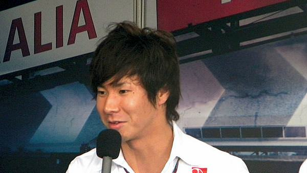 Kamui Kobayashi answers questions during the media interviews