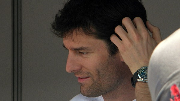 Mark Webber entertains the crowds in Melbourne
