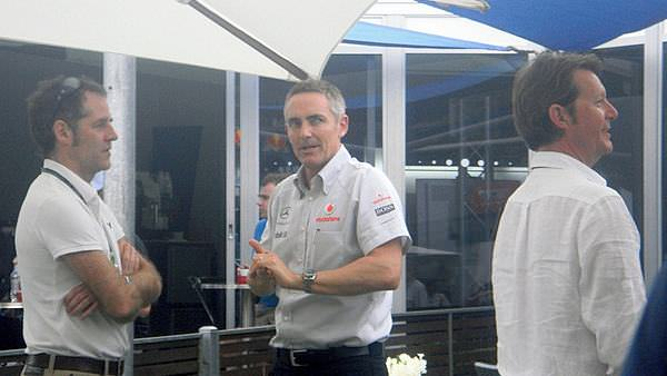 Martin Whitmarsh meets and greets during Friday practice at the Australian Grand Prix