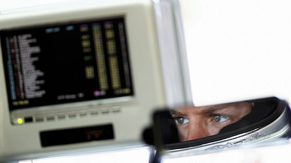 Sebastian Vettel reflects on the live timing from the comfort of his car