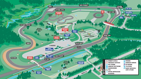 Lime Rock Circuit Map