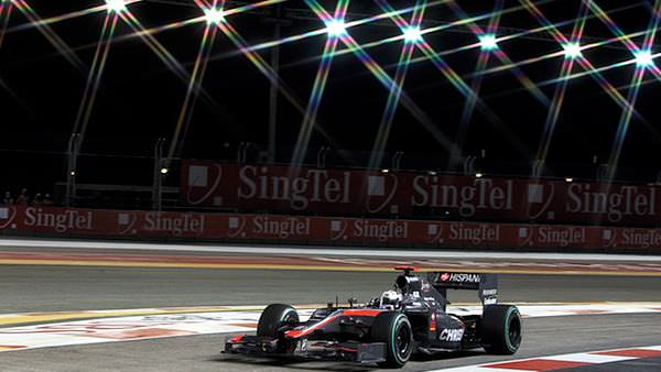 Christian Klien navigates the brighter-than-daylight Singapore circuit
