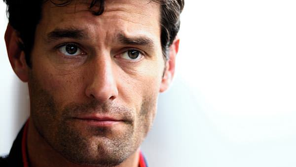 Mark Webber looks thoughtful during the Spa GP weekend